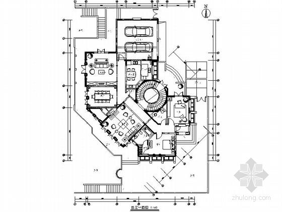 [北京]温馨美式风格双层别墅样板房装修图(含效果)