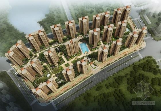 [广东]新古典主义一梯三户形高层住宅小区设计方案文本
