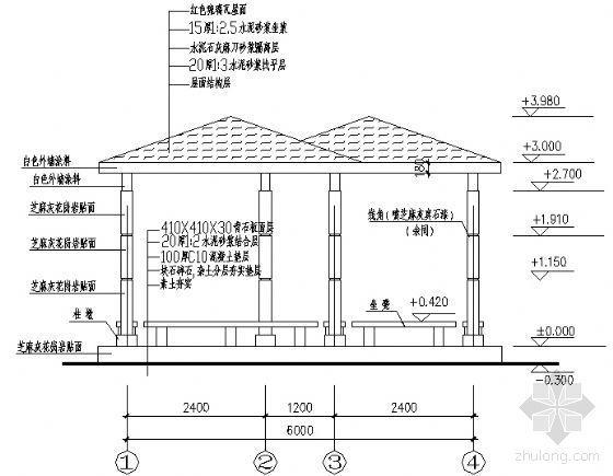 霜亭建筑结构详图
