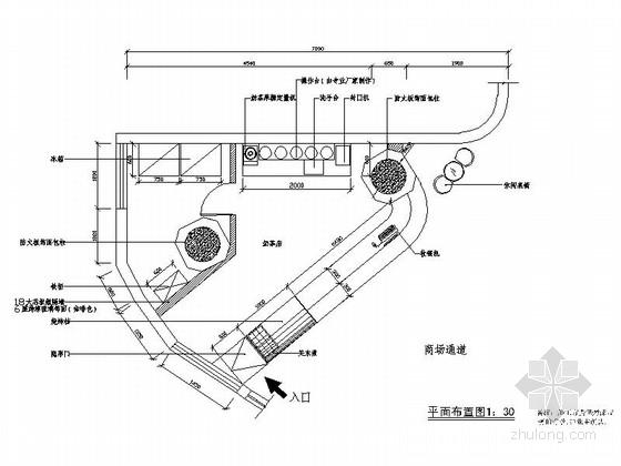 [深圳]童趣連鎖奶茶店室內CAD施工圖(含效果圖)
