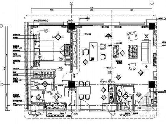 [吉林]高档商务酒店部长套间装修图(含效果)