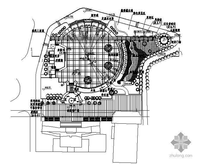 政府前广场施工图全套