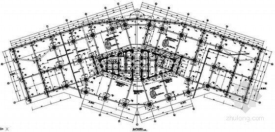 [山东]超高层综合办公楼结构设计施工图(150米)