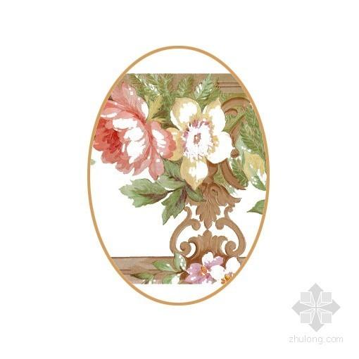 欧式花纹白色瓷砖贴图