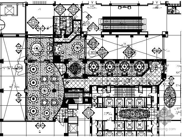 五星酒店中餐厅施工图