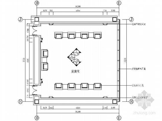 [天津]某图书馆部分室内装修施工图(含方案)