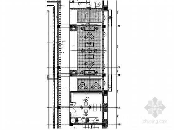 [拉萨]某中式风格假日酒店茶室室内装修施工图
