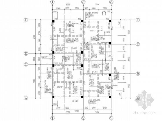 五层私人住宅框架结构施工图