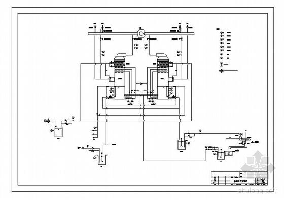 某锅炉烟气脱硫工程白泥法脱硫管路图