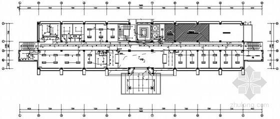 [深圳]七层办公楼强弱电系统全套竣工图纸