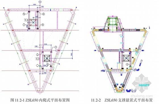 超高层建筑内爬升塔吊悬置施工工法