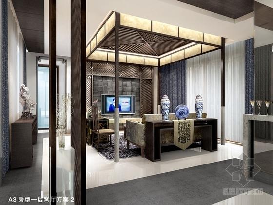 [苏州]新中式豪华4层别墅全套CAD施工图(含效果图)-[苏州]新中式豪华4层别墅全套效果图