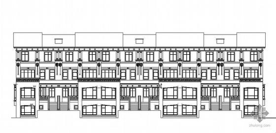 广东某小区连排别墅建筑施工图