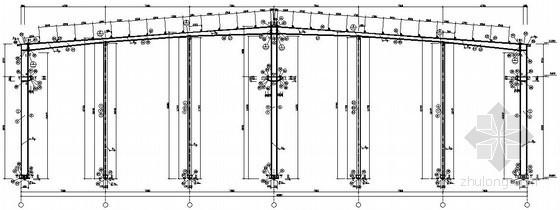 [新疆]单层门式刚架轻钢结构厂房结构施工图(天然地基)
