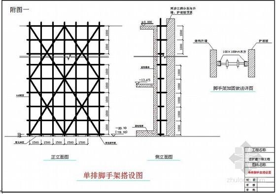 [北京]医院门诊楼地下结构落地脚手架施工方案(单排、双排)