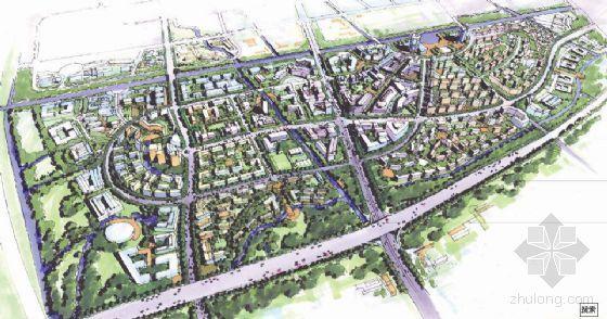 上海浦东区域整体规划设计文本(中英文手绘)