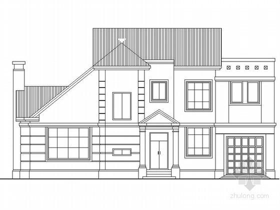 某二层坡屋顶独栋别墅建筑方案图