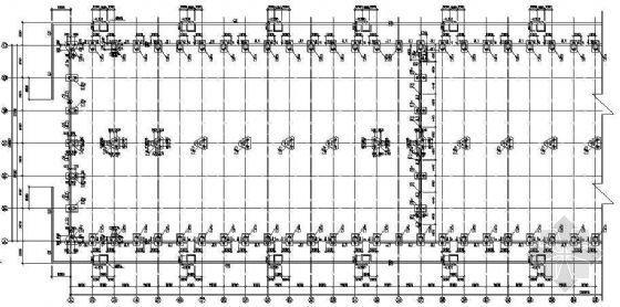 某两跨54米钢结构厂房图纸(中跨抽柱)