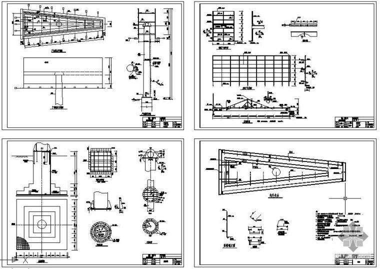 某钢结构广告牌设计图