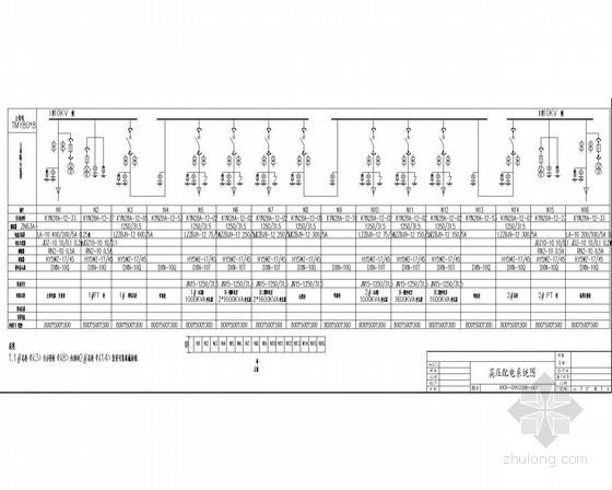 高压10Kv配电室电气设计施工图