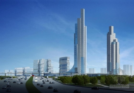 [厦门]超高层立体绿化复合功能城市综合体建筑设计方案文本-超高层立体绿化复合功能城市综合体建筑效果图