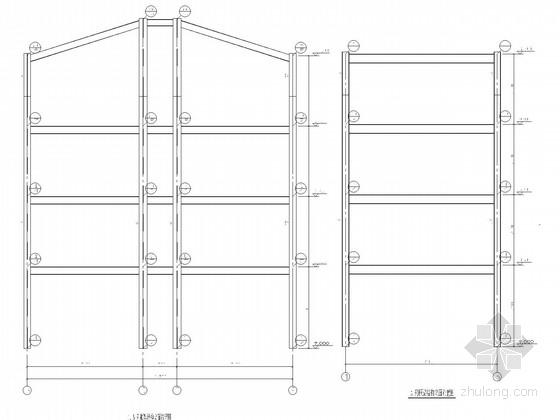 4层钢框架别墅结构施工图
