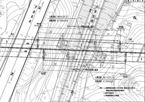 [湖北]主跨44+33米T型刚构转体桥图纸199张(变高度箱梁)