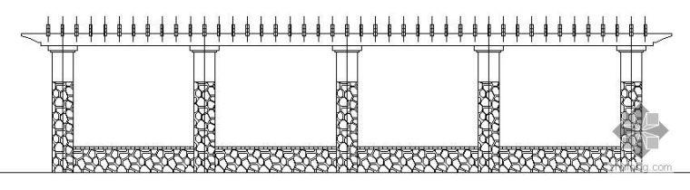 广场弧形花架施工详图