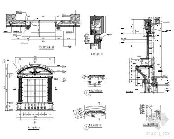 欧式建筑窗详图2