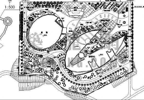 """某市""""一馆三中心""""体育中心景观设计方案"""
