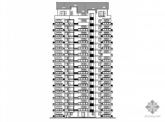 [温州]某拆迁安置项目3、5#十六层塔式住宅楼建筑施工图(一梯三户、顶层复式)