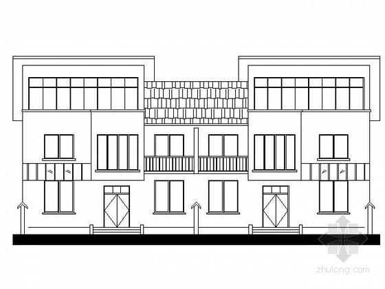 [河南]某新农村二层连排式住宅方案图