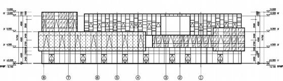 [上海]花园式大型现代风格商业广场设计方案文本-花园式大型现代风格商业广场立面图