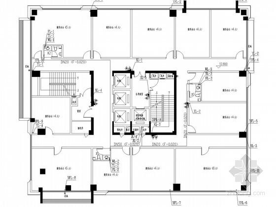 [广东]高层办公商务综合楼给排水消防施工图(甲级设计院 15年最新设计)