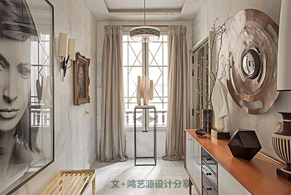 欧式轻奢范文资料下载-赭金灰色的完美邂逅,缔造轻奢优雅别墅之家