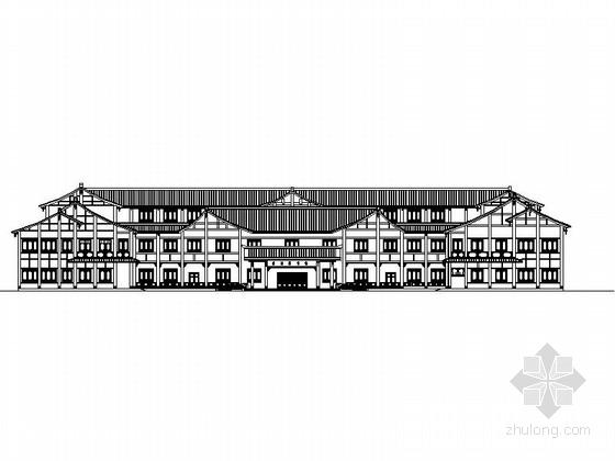 [四川]3层仿古市级图书馆建筑设计施工图(含效果图)
