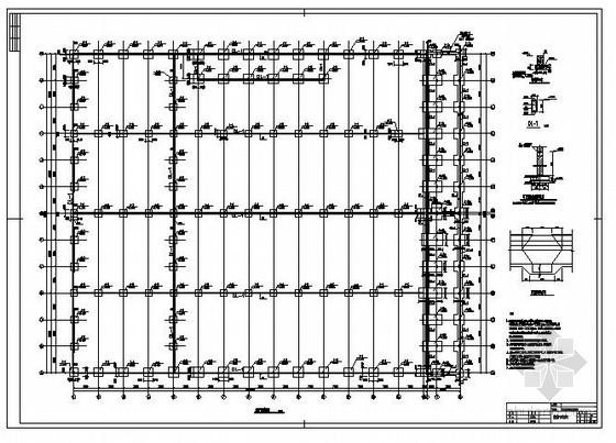 某铁路配件制造联合厂房及办公楼结构设计图