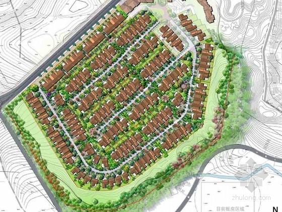 [成都]英式田园风格别墅区景观概念规划设计方案