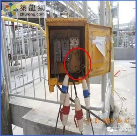建筑工程直接作业典型违章图片警示汇总