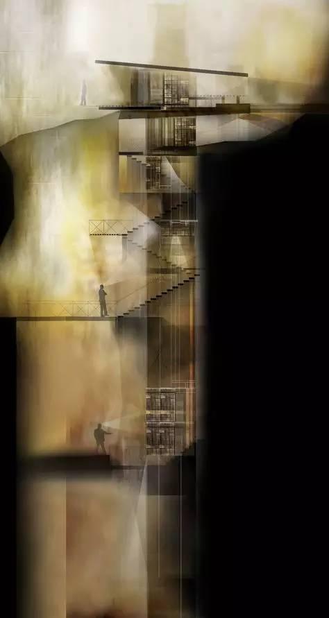 那些霸气的建筑剖面图_23