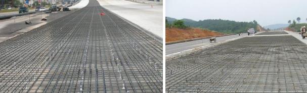 连续配筋混凝土路面钢筋网施工怎么做?来看看全过程