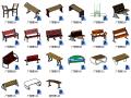 BIM族库-园林-基础设施-广场椅