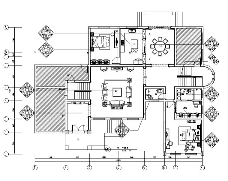 歐式風格別墅設計施工圖(附效果圖)