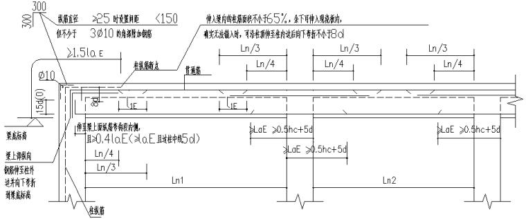 异形柱整套框架结构施工图(CAD,14张)_6