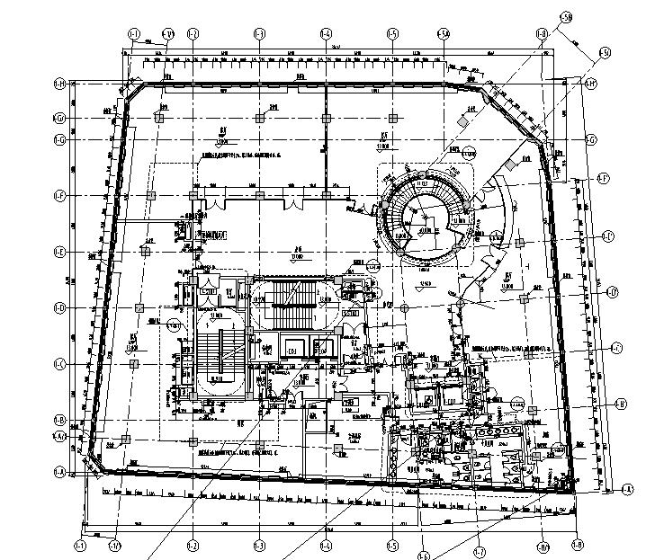 南京中央广场强弱电电气消防图纸(改建工程)
