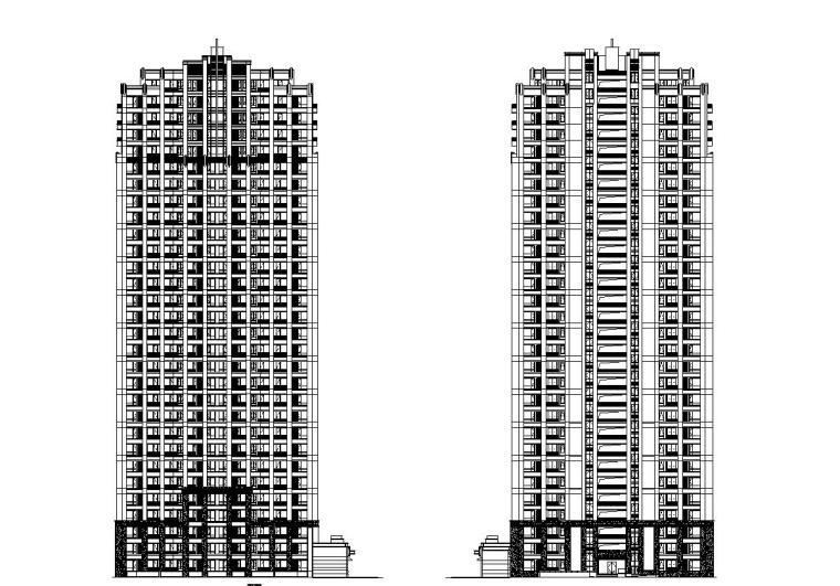 [江西]南昌科技大学东侧建筑施工图设计(CAD)