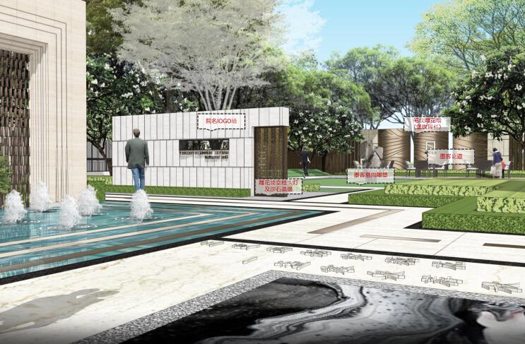 [山东]济南现代新古典风格居住区景观设计方案