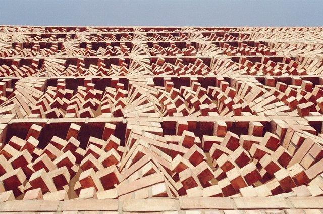 "Anagram Architects设计的""飞舞的砖头""办公楼"