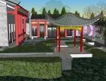 中式徽派合院式建筑设计方案