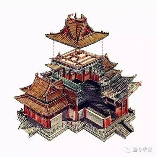 中国古典建筑手绘透视图,美不胜收!